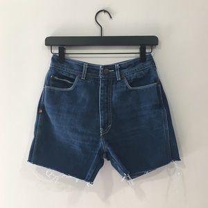 Vintage Bonjour Denim Cut-off Mom Shorts